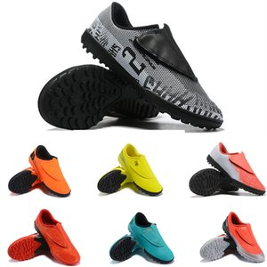 Wholesale Mercural CR7 kids soccer shoes cr C Ronaldo Low Top tf chuteiras de futebol football Children Boys Girls cleats Boots