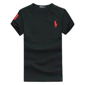 Wholesale summer Newest Men s Big Horse Embroidery Men T Shirts Slim Fit Funny T Shirts Cotton Top Tees Homme Clothing Hot Sale