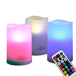 Wholesale WRalwaysLX Flameless Pillar Candles Outdoor and Indoor Decorative Color Changing LED Flickering Candles with Remote Control and Timer