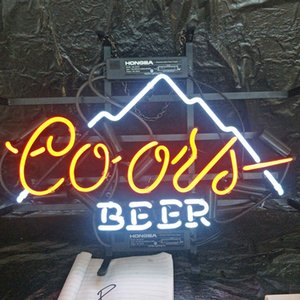 Wholesale Coors BEER LED Neon Sign Light Custom Outdoor Bar Display Club Entertainment Decoration Glass Neon Lamp Light Metal Frame