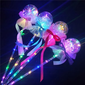 Wholesale Light Up Princess Wand Fairy LED Scepter for Christmas Party ball Magic Heart Stick Flashing Toy T1I1628