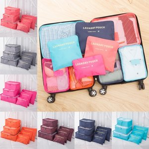 Wholesale Travel Makeup Bag Home Luggage Storage Clothes Storage Organizer Portable Cosmetic Bags Bra Underwear Pouch Storage Bags Set