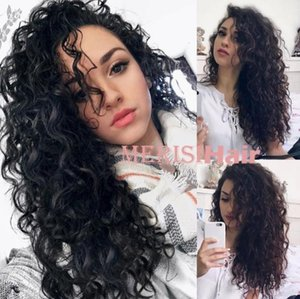 Wholesale Kinky Curly Wigs Pink Black Color Synthetic Lace Front Wig Long Curly Synthetic Hair Wigs FZP164
