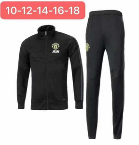 Wholesale 2019 manchester kids jacket tracksuit Survetement POGBA RASHFORD LUKAKU football training suit jacket UNITED Jogging chandal futbol