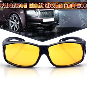 Newly Night Driving Glasses Anti Glaring Night Vision HD Polarized Fit Over Wrap Around Glasses BFE88