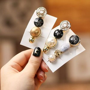 Wholesale 2019 New Woman Vintage Beads Hairpins Girls Hair Accessories Crystal Barrettes Ladies Hair Clips Fashion Hairgrips Femme Clips