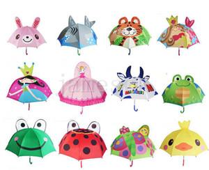 13 Styles Lovely Cartoon Design Umbrella For Kids High Quality 3D Optional Function Umbrella Light For Rain Sun 47CM*8K D126