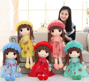 Wholesale Plush Toys Cute Flower Fairy Ragdoll Child Doll Appease Doll Plush Pillow Birthday Gift Girl Plush Dolls