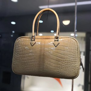 Wholesale luxury bag 100% real crocodile bag Alligator leather handlebag for women famous brand