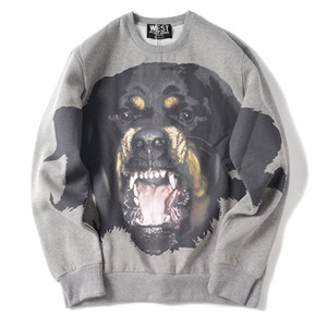 2019 latest HOT best Quality Big Dog Head Printing uxury Brand Warm sweater Long sleeved sweater Fashion Trend JOKER sweater