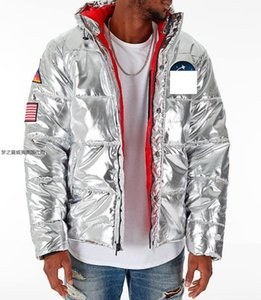 Wholesale off men Designer white cotton clothing metal Limited Edition Winter Warm Jacket Cotton Skirt Flight Suit men fashion warm wadded jacket