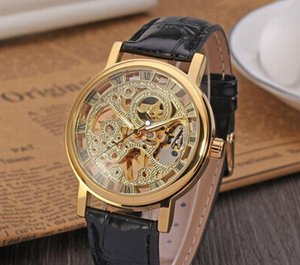 Wholesale High-end watches foreign trade hot Winner genuine full hollow men's mechanical skin strap
