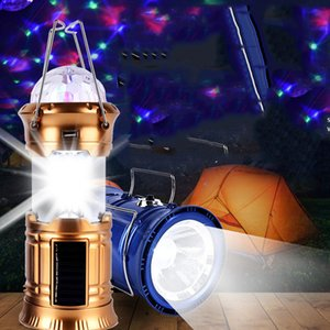 Wholesale Multifunctional LED Colorful Solar Tent Lights Camping Lights Home Emergency Stage Night Lights Lanterns