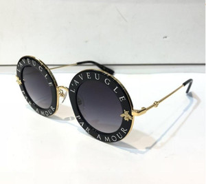 Wholesale 0113 Sunglasses Gold Acetate Frame With Popular Design Frame Popular UV Protection Sunglasses Top Quality Fashion Summer Women Style