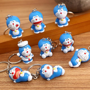 ingrosso robot cartoni-20pcs Cartoon Cartoon Robot Cat Doraemon Doraemon Cat Handmade Doll Decoration Decoration Keychain Bag Pendente Catena chiave Catena portachiavi Anello