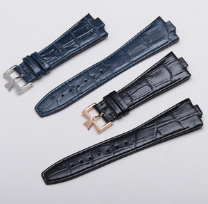 Wholesale Black Dark Blue Genuine Cow leather straps fit For constantin G watch mm mm lug Overseas watchbands bracelet
