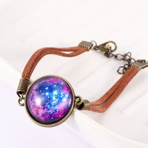 1Pc Hot Sale Charming Bracelets Good Quality Bangle Galaxy Nebula Space Weave New for Women Girls Statement Jewelry Gifts