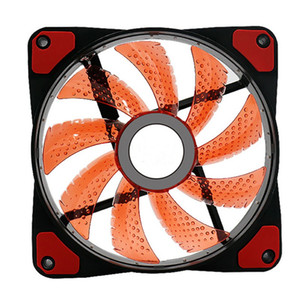 120mm CPU Radiator Cooler Fan Pure Copper + Aluminum Heat Sink With 15 Cool LED Lights For AMD Intel CPU