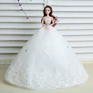 Wholesale Wedding Dress Cling To Than Doll d Bride Gauze Princess Girl Birthday Gift Toys Goods Of Furniture For Display Rather Than For Use