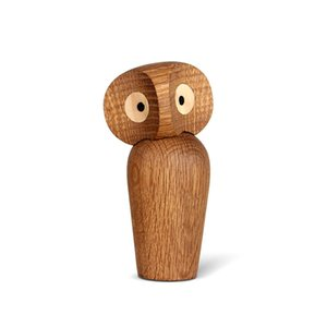 Wholesale Nordic Style Owl Wooden Crafts Living Room Office Decorations Creative Mini Owl Model Home Accessories Ornaments Birthday Gifts T190710