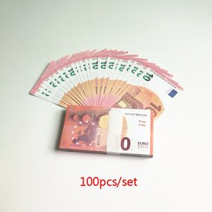 Wholesale Fake Money 10 20 50 100 Euro Bills Sticker kids learning Tool Movie Props Party Toy High Quality 100pcs set