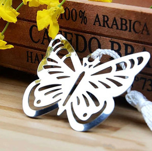 Wholesale Metal Silver Butterfly Bookmark Bookmarks White tassels wedding baby shower party decoration favors Gift gifts