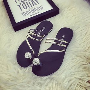 Hot Sale-Summer new flower flat rubber thong sandals and slippers sandals girls sandals student shoes WOMEN SHOES