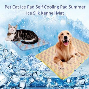 Wholesale Pet Cool Pad Summer Essential Cat Dog Self cooling Cooling Pad Cold Sense Ice Silk Kennel Mat