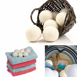 Wholesale Wool Dryer Balls Premium Reusable Natural Fabric Softener inch Static Reduces Helps Dry Clothes in Laundry Quicker LX5931