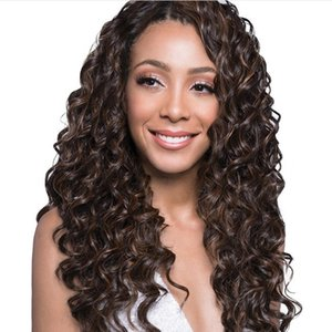 Wholesale Hot New Style Kinky Curl Synthetic Braiding Hair packs inch Deep Wave Crochet Hair Extensions Fashion Ocean Wave Hair For Women