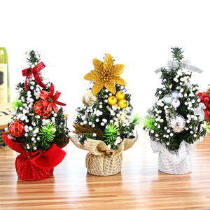 Wholesale Mini Christmas Tree Table Decoration Small Pine Tree Festival Home Office Table Decor Party Ornaments Xmas Decoration Gift For New Year