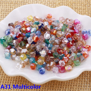 Wholesale 4mm Bicone Loose Crystal Beads 1000pcs For Jewelry Making Supplies Bracelet Necklace DIY Accessories