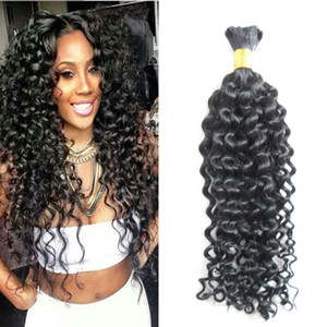 10-30 Inch afro kinky curly Human Braiding Hair Bulk No Weft 1PC 100g natural black no weft human hair bulk for brai Human Hair Bundles