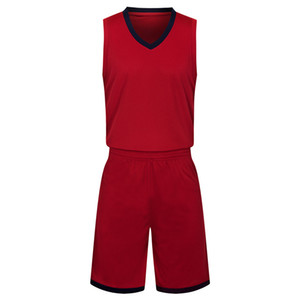 Wholesale 2019 New Blank Basketball jerseys printed logo Mens size S-XXL cheap price fast shipping good quality Dark Red DR002