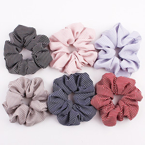 Wholesale dancing hair for sale - Group buy Stripe Rope Scrunchies Ponytail Holder Elastic Hair Bands Sports Polka Dot Lattice Houndstooth Headband Dance Soft Charming Hair Accessories