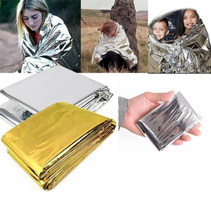 Wholesale Fashion Outdoors Emergency Blanket First Aid Waterproof Thermal Space Survival Curtain New Fashion Sports Entertainment