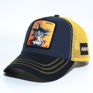 Wholesale Dragon Ball Z GOKU Embroidery Baseball Caps Spiderman Mesh Casquette Brand Outdoor Sport Summer Sun Hat Trucker Cap Accessories DHL