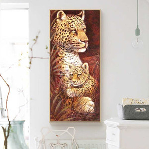 wholesale 5d Diamond Painting Animal Decor For Home Embroidery Cross Stitch Tiger Mosaic Leopard Diamond Art New Arrival