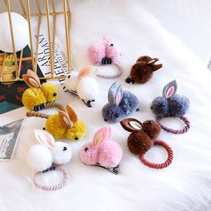 Wholesale New Hair Accessories Headwear Girl Hair Band Cute Rabbit Ponytail Holder Scrunchy Rope Hair Pin Jewelry