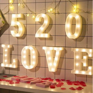 0-9 Digital Warm Light LED Night Light Ceiling Sign Letter Light Birthday Wedding Party Bedroom Wall Hanging Home Decoration