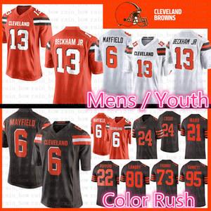 6c24515e1d1 Cleveland 13 Odell Beckham Jr Browns Jersey 6 Baker Mayfield 95 Myles  Garrett 80 Jarvis Landry