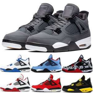 2019 Cool Grey 4 4s Mens Basketball Shoes Bred Cactus Jack Green Grow Military Blue Alternate 89 Mens Sports Designer Sneakes 7-13