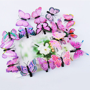 Wholesale 50pcs Fairy Fake Butterfly Hairpin Woodland Party Favor Kid Barrette Cute Theme Party Girls Animal Flying Butterfly Hair Clip