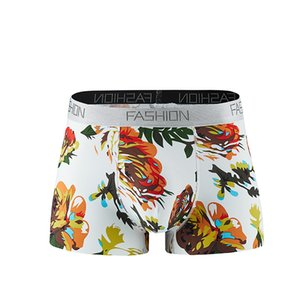 Wholesale mens underwears boxers mMen s Underwear Recreational Printing Air permeable Fashion Flat angle Underwear hot fashion have many style L XL