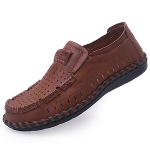 Wholesale Plus Size Fashion Breathable Loafers Men Shoes Non slip Rubber Sole Men Casual Shoes New Summer Autumn Footwear