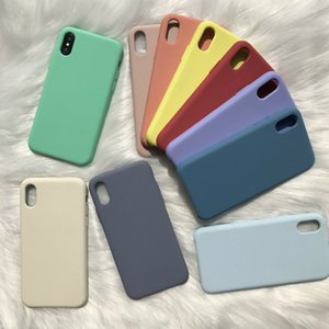 Wholesale Cell Phone Cases for Iphone7p s for X liquid silicone mobile phone case xs max protection sleeve XR