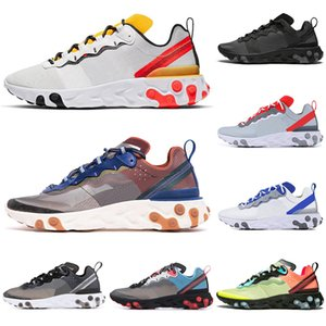 Wholesale New React Element men women Running Shoes Tour Yellow casual Dusty Peach triple black white Sail outdoor mens trainers sports sneakers