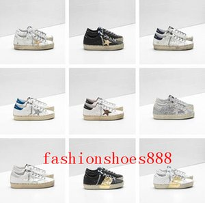 Wholesale Italy Brands Golden Old Style GDB Designer Fashion Sneakers Luxury Genuine Leather Mens Womens Casual Shoes Trainer Hi Star Shoes Size35