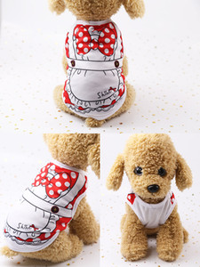 Wholesale 2019 Brand New Fashion Dog clothes Designer Cartoon Print Dog Apparel High Quality Cute Cat And Dog Clothes