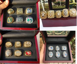 Patriot American Football Gaint Cowboy Raider 49ER Team Champions Championship Ring With Wooden Box Souvenir Fan Men Gift 2020 Can Mix Order